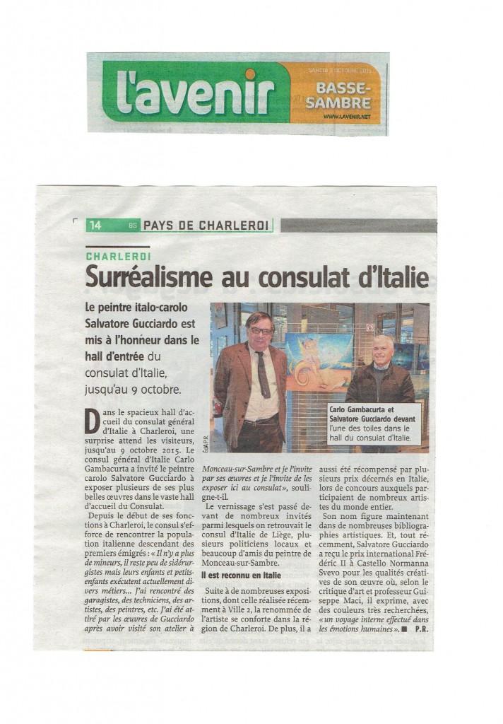 Surréalisme au Consulat d'Italie, expo S. Gucciardo L'avenir 2015